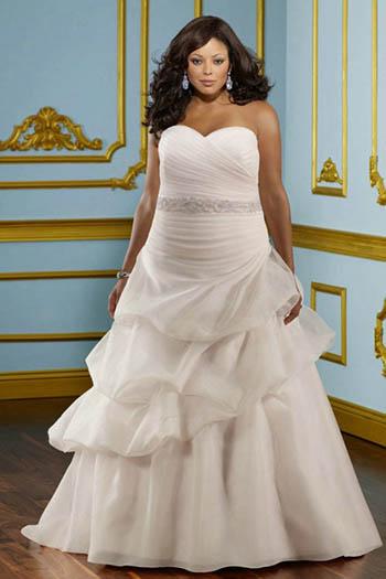 Plus Size Bride in Beautiful Wedding Dress