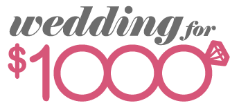 Wedding for $1000 logo