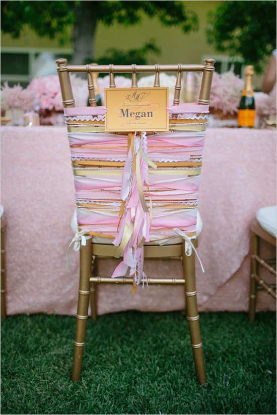 Adorable chair decoration ideas! - weddingfor1000.com lotsofribbons