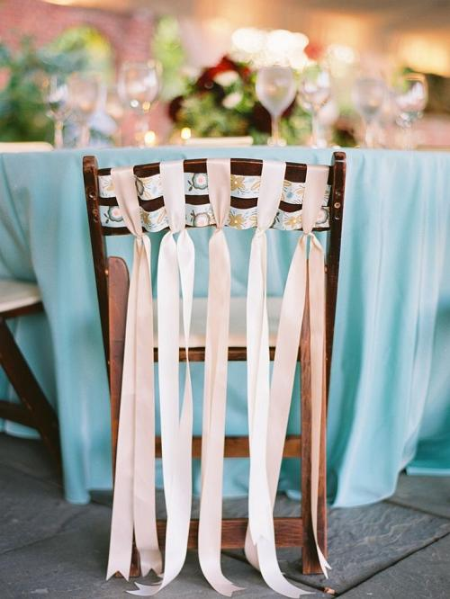 Adorable chair decoration ideas! - weddingfor1000.com ribbons