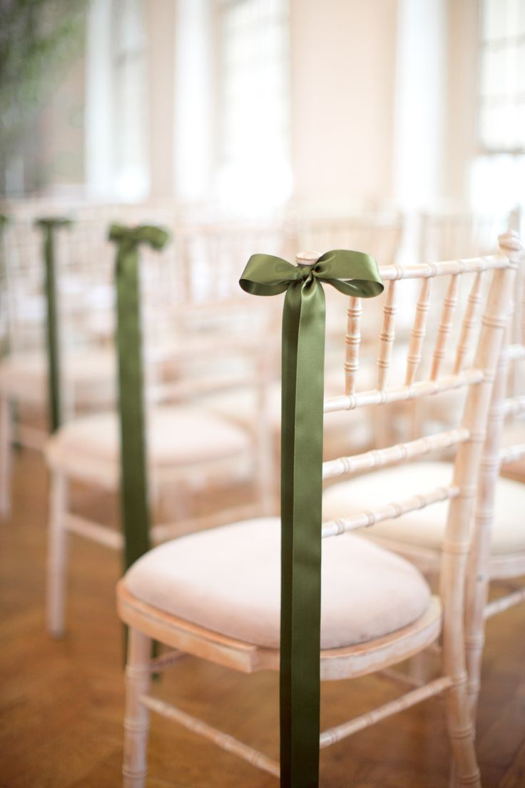 Adorable chair decoration ideas! - weddingfor1000.com simple bow