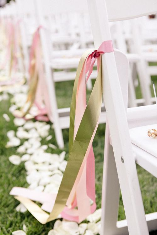 Adorable chair decoration ideas! - weddingfor1000.com simple ribbons