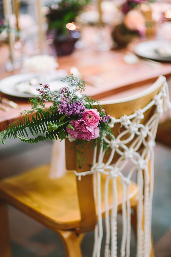 Adorable chair decoration ideas! - weddingfor1000.com knotted