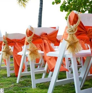 Adorable chair decoration ideas! - weddingfor1000.com nautical beach