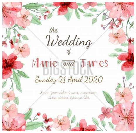 Wedding Vector Invitations