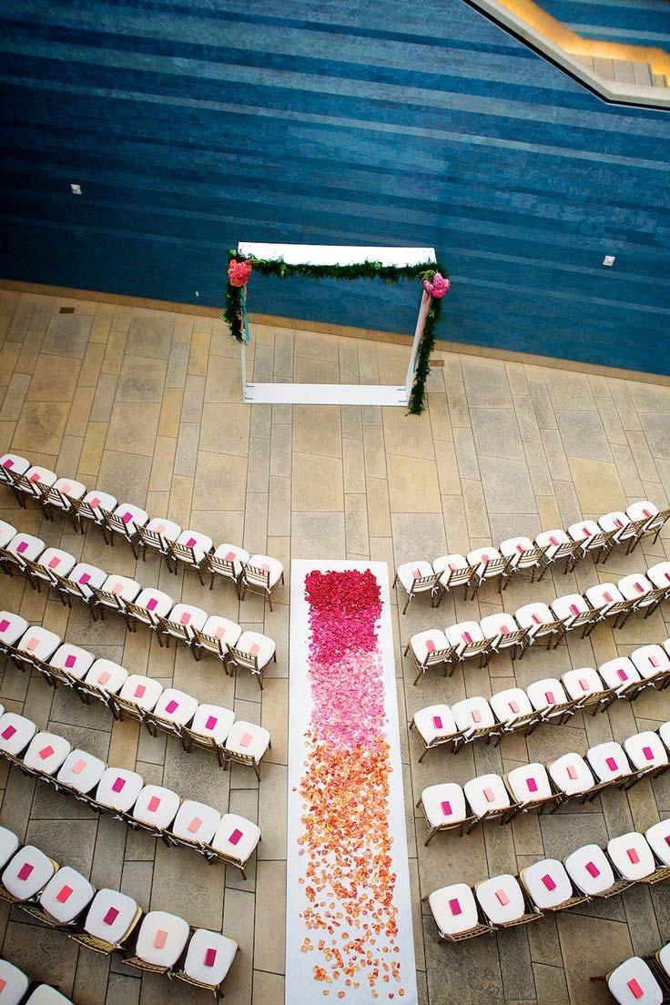 Beautiful wedding ceremony venue setup