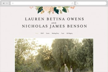 Wedding Websites at Minted.com