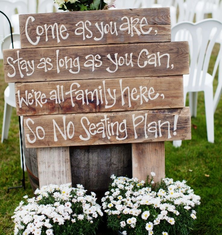 Seating Plan Wedding Signs