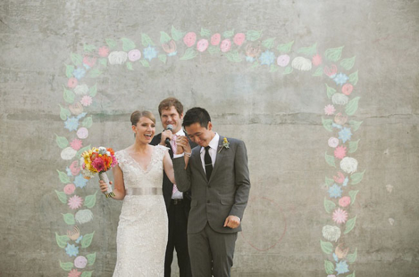 chalk on concrete wall - weddingfor1000.com