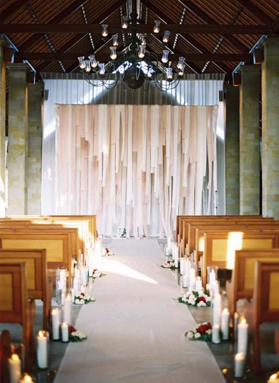 draped fabric wall weddingfor1000.com