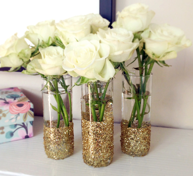 glitter vases weddingfor1000.com
