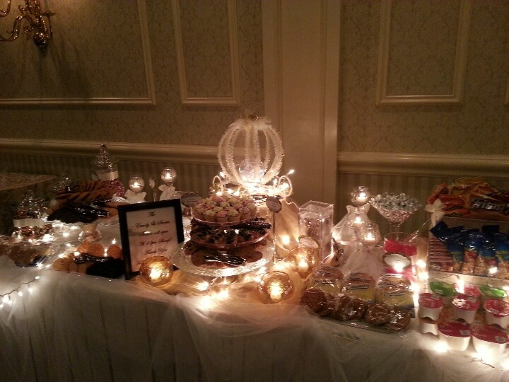 midnight wedding snack bar