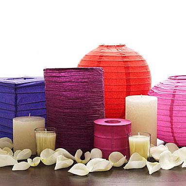paper lanterns weddingfor1000.com non-floral centerpieces