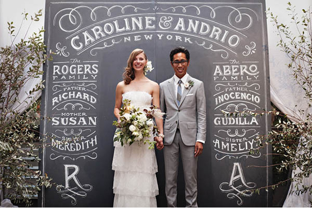 personalized chalkboard ceremony backdrop ideas weddingfor1000.com