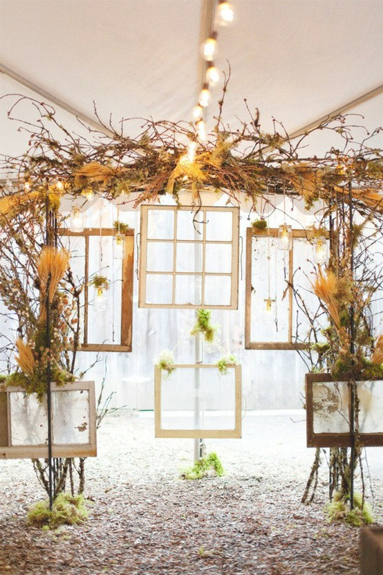 pretty window panes ceremony backdrop weddingfor1000.com