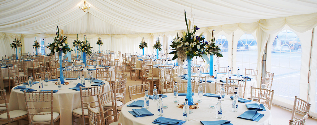 wedding marquees make for a stunning setting