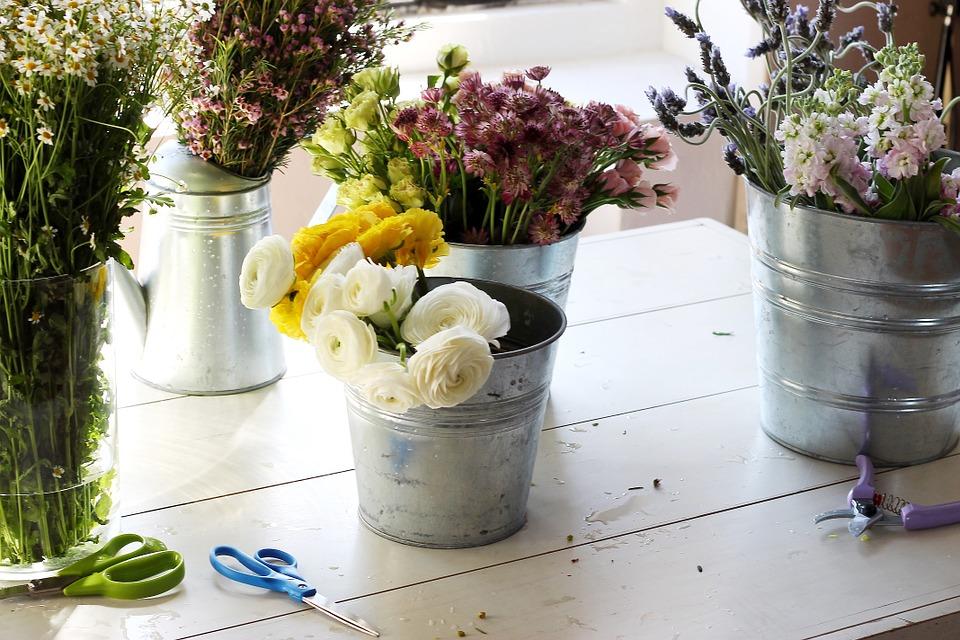 reception venue flowers