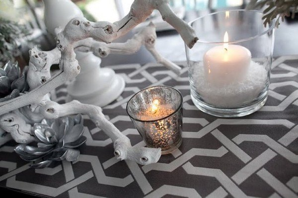 societybride wedding centerpiece sharkskin