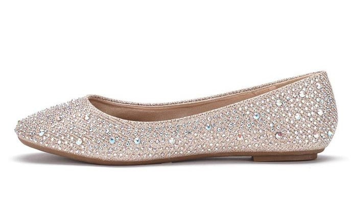 embellished ballet flats to wear when your heels start to hurt! -- weddingfor1000.com