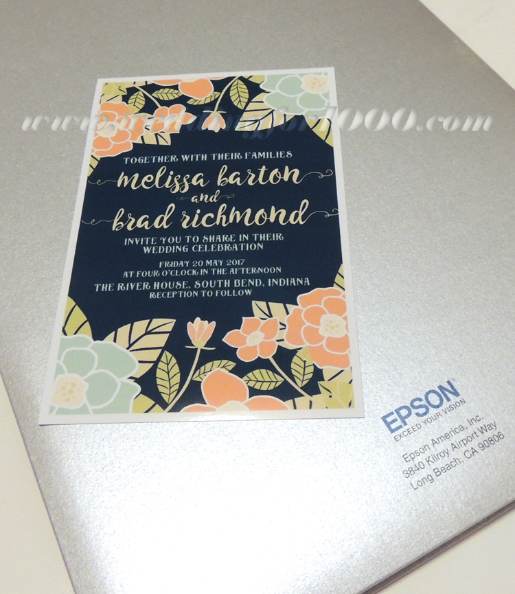 gorgeous printed invitation using the Espon Expression XP-830 small-in-one printer
