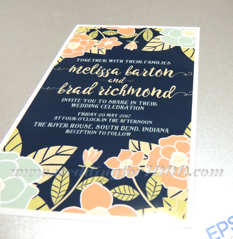Another view of the beautiful (but bordered) invitation
