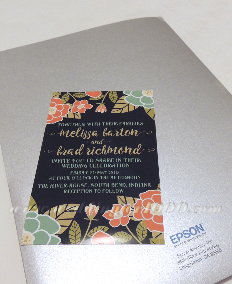 GORGEOUS results from using the Epson Expression Premium XP-830 to print my DIY invitations!