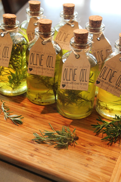 Infused Olive Oil Guest Favors