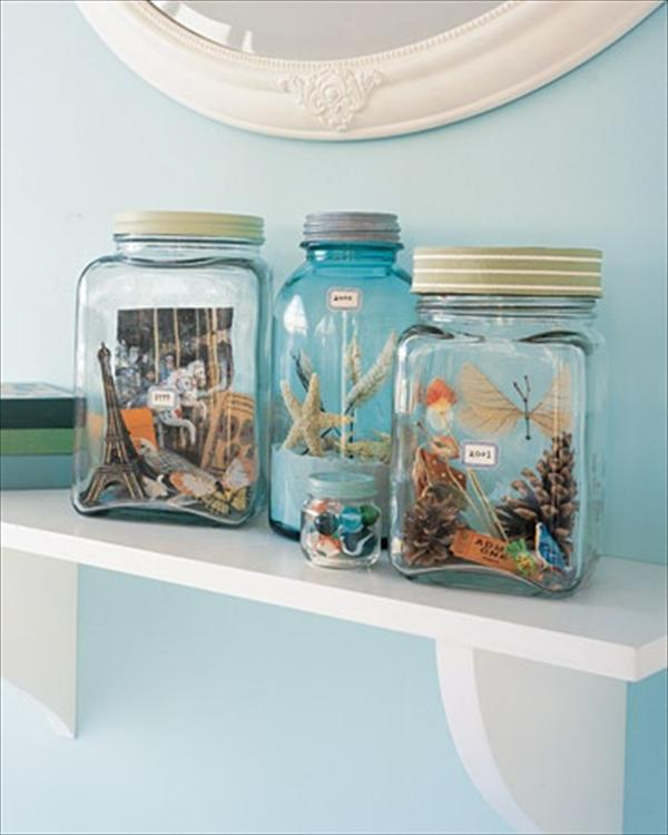 Honeymoon Keepsakes in a mason jar - weddingfor1000.com