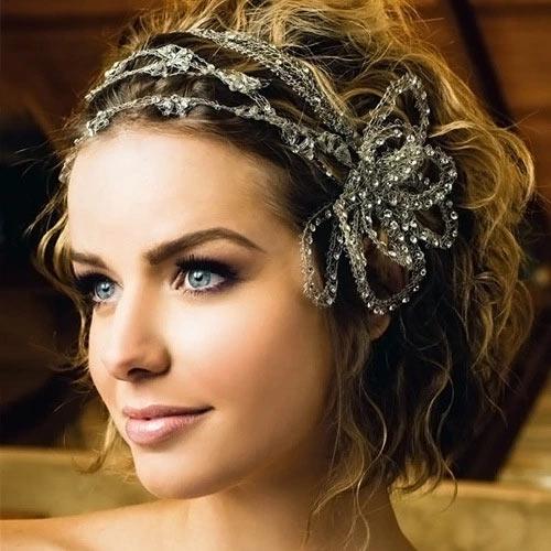 Beaded hair styles for short wedding hair