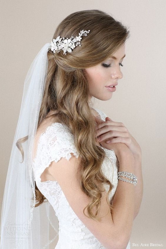 your wedding look - veil on side