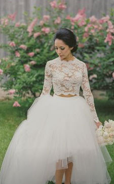 your wedding look - tulle overskirt