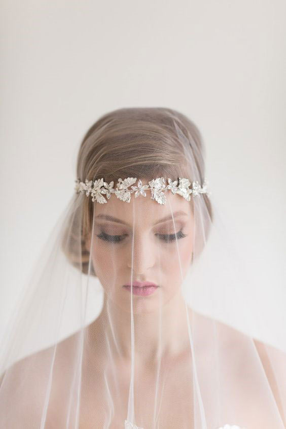 Your Wedding Day Look - beaded wedding veil