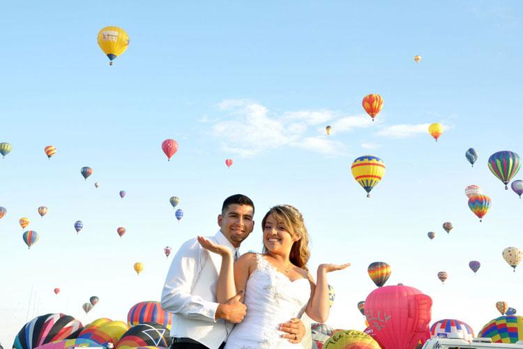 Unique Wedding Ceremony Venue Ideas - maybe a balloon festival is your style? weddingfor1000.com