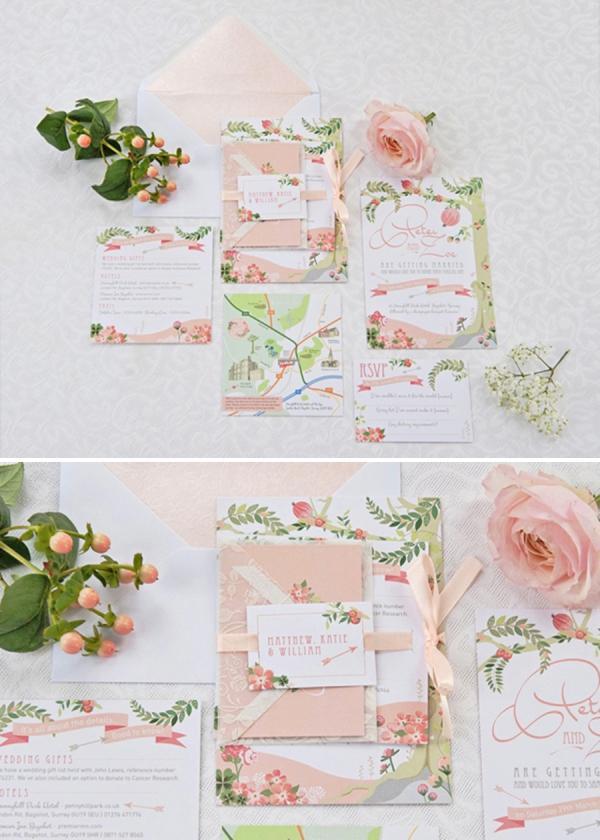 beautiful vintage wedding stationery ideas - weddingfor1000.com