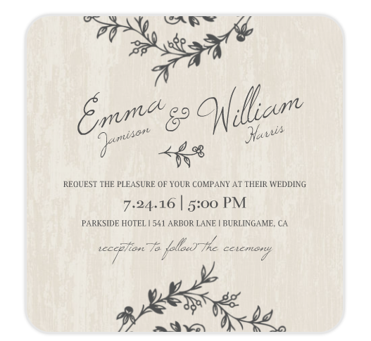 Mixbook does amazing wedding invitations. Professional printing at an affordable price. weddingfor1000.com