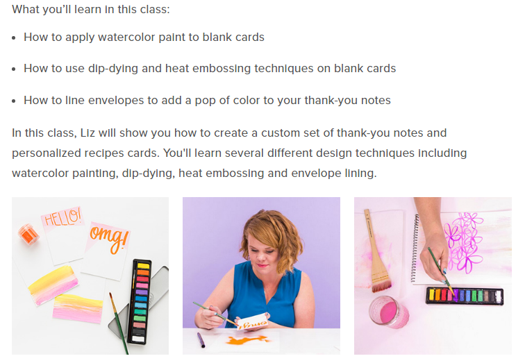 Thank your bridal party with this awesome class that walks you through creating your own watercolor thank you cards! weddingfor1000.com