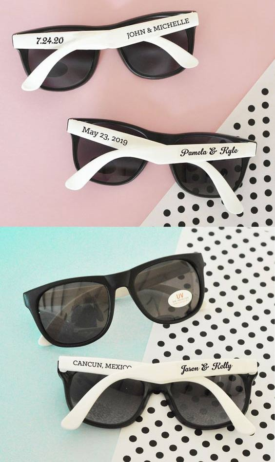 7 Awesome Destination Wedding Guest Favors Ideas: fun sunglasses - weddingfor1000.com